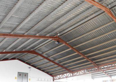 Estructura y cerramiento cubierta